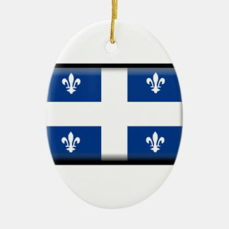 Quebec (Canada) Flag Ceramic Ornament