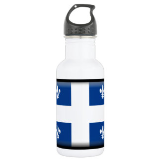 Quebec (Canada) Flag Stainless Steel Water Bottle