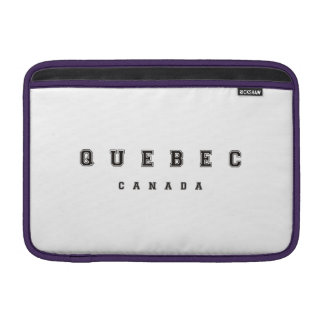 Quebec Canadá Funda MacBook