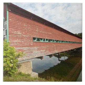 Quebec, Canada. Galipeault covered bridge in Ceramic Tile