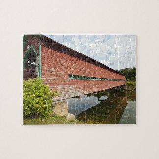 Quebec, Canada. Galipeault covered bridge in Jigsaw Puzzle