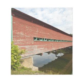 Quebec, Canada. Galipeault covered bridge in Notepad