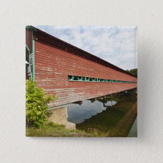 Quebec, Canada. Galipeault covered bridge in Pinback Button