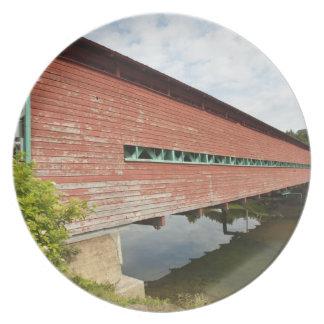 Quebec, Canada. Galipeault covered bridge in Plate