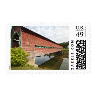 Quebec, Canada. Galipeault covered bridge in Postage