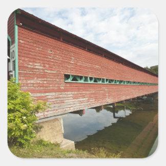 Quebec, Canada. Galipeault covered bridge in Square Sticker