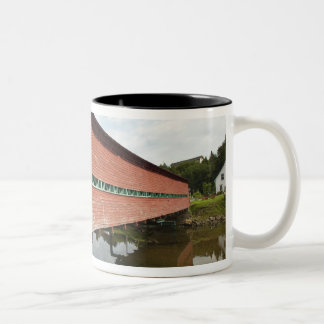 Quebec, Canada. Galipeault covered bridge in Two-Tone Coffee Mug