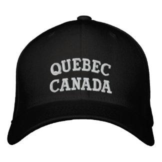 Quebec Canadá Gorra De Beisbol Bordada