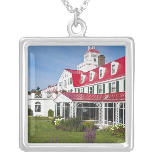 Quebec, Canada. Historic Hotel Tadoussac, 2 Silver Plated Necklace