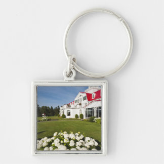 Quebec, Canada. Historic Hotel Tadoussac, 3 Silver-Colored Square Keychain