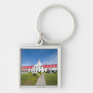 Quebec, Canada. Historic Hotel Tadoussac, Silver-Colored Square Keychain