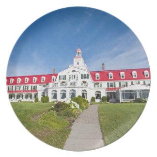 Quebec, Canadá. Hotel histórico Tadoussac, Plato De Cena
