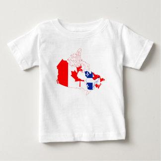 Quebec Canada Map Flag shirt