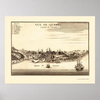 Québec, Canada Panoramic Map - 1755 Poster