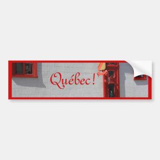 Quebec, Canadá Pegatina Para Auto