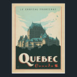 "Quebec, Canada Postcard<br><div class=""desc"">Anderson Design Group is an award-winning illustration and design firm in Nashville,  Tennessee. Founder Joel Anderson directs a team of talented artists to create original poster art that looks like classic vintage advertising prints from the 1920s to the 1960s.</div>"
