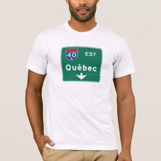 Quebec, Canada Road Sign T-Shirt