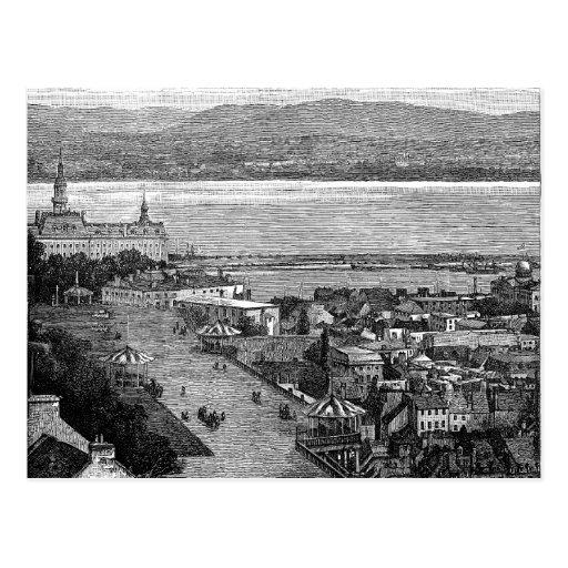 Quebec, Canadá, terraza de Dufferin, circa 1875 Tarjetas Postales