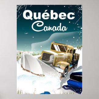 Québec Canada vintage travel poster