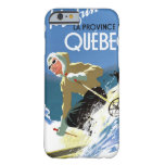 Quebec Canada Vintage Travel Poster Restored Barely There iPhone 6 Case