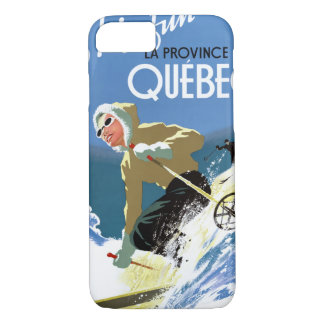 Quebec Canada Vintage Travel Poster Restored iPhone 7 Case