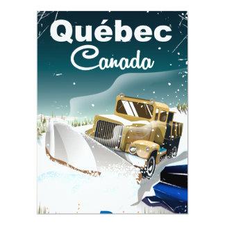 Québec Canada vintage vacation poster Card