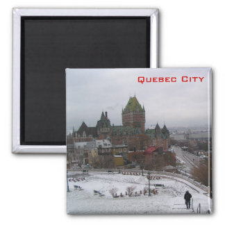 Quebec City 2 Inch Square Magnet