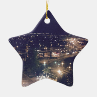 Quebec City at Night Ceramic Ornament