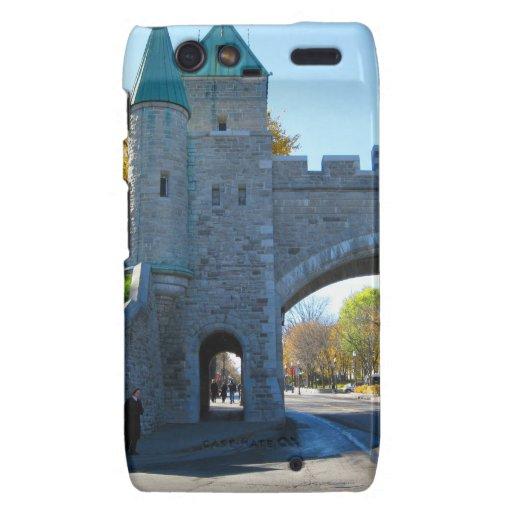 Quebec City Canada Castle Gates Droid RAZR Cases