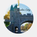 Quebec City Canada Castle Gates Ornament