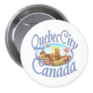 Quebec City Canada Pinback Button