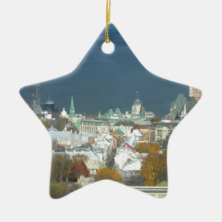 Quebec City Canada Waterfront Ceramic Ornament