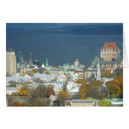 Quebec City Canada Waterfront Greeting Cards