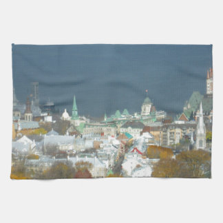Quebec City Canada Waterfront Hand Towel
