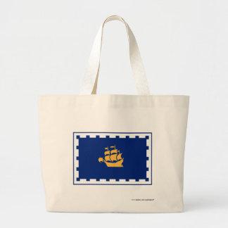 Quebec City Flag Canvas Bags