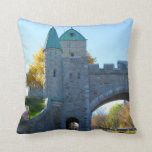 Quebec City Gate of Castle Wall Canada Pillow