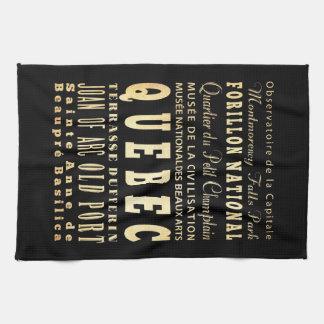 Quebec City of Canada Typography Art Towel