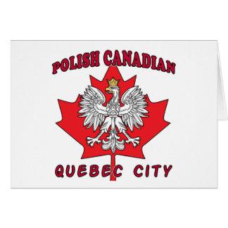 Quebec City Polish Canadian Leaf Card