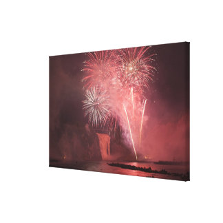 Quebec City, Quebec, Canada. Fireworks at Parc 2 Canvas Print