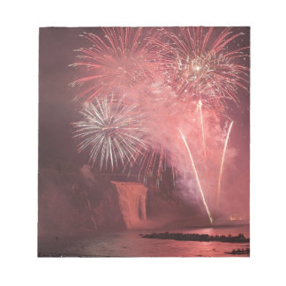 Quebec City, Quebec, Canada. Fireworks at Parc 2 Note Pad