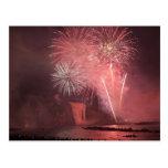 Quebec City, Quebec, Canada. Fireworks at Parc 2 Post Cards