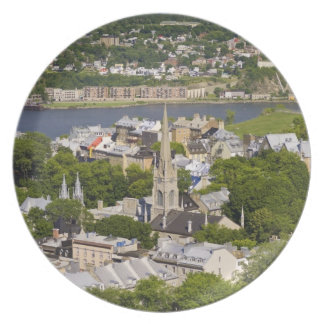 Quebec City, Quebec, Canada. Looking down on the Plate