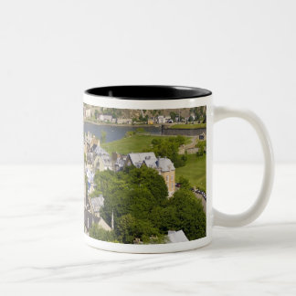 Quebec City, Quebec, Canada. Looking down on the Two-Tone Coffee Mug