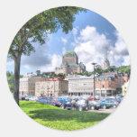 Quebec city round sticker