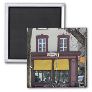 Quebec city scene 2 inch square magnet