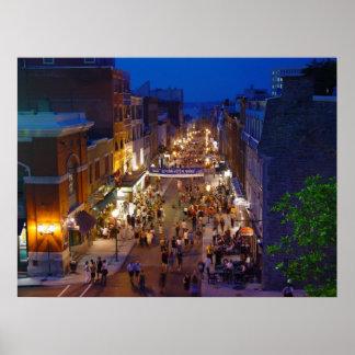 Quebec City Summer Festival Rue Saint-Jean Poster