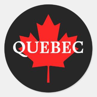 QUEBEC CLASSIC ROUND STICKER