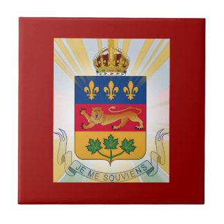 Quebec Coat of Arms Ceramic Tile
