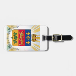 Quebec Coat of Arms Tags For Luggage
