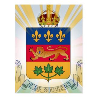 Quebec Coat of Arms Postcard